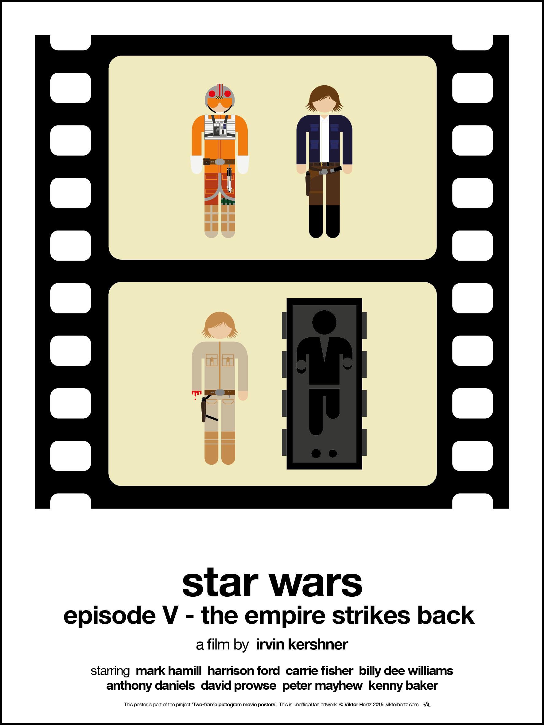 Two-frame pictogram movie posters | Viktor Hertz